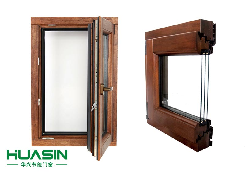 88 Series aluminum clad wooden doors and windows are opened